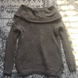 NWT Vestique Chunky Knit Sweater in Taupe Size S